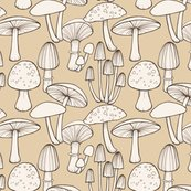 Rmushrooms_line_drawing_taupe_150_hazel_fisher_creations_shop_thumb