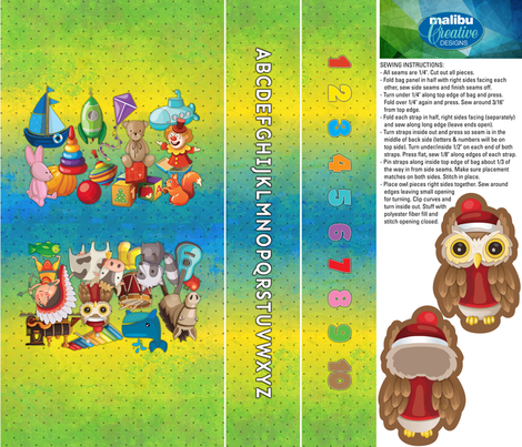 Soft Book Tote Bag fabric by malibu_creative on Spoonflower - custom fabric