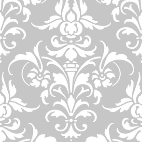 Joan Damask ~ White on Elope