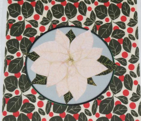 White Poinsettia for Pillow