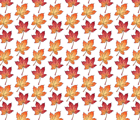 Autumn Maple Leaves fabric by hazel_fisher_creations on Spoonflower - custom fabric