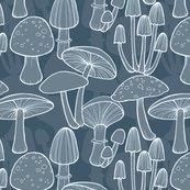 Mushrooms_line_drawing_midnight_blue_medscale_hazel_fisher_creations_shop_thumb