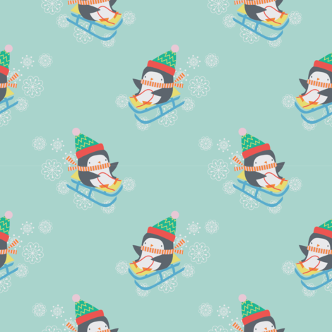 XMAS PENGUIN fabric by michelepayne on Spoonflower - custom fabric