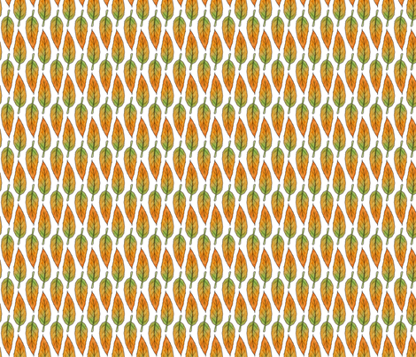 Autumn Long Leaf fabric by hazel_fisher_creations on Spoonflower - custom fabric