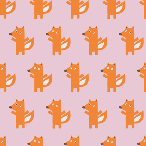 XMAS FOX fabric by minkypnoo on Spoonflower - custom fabric