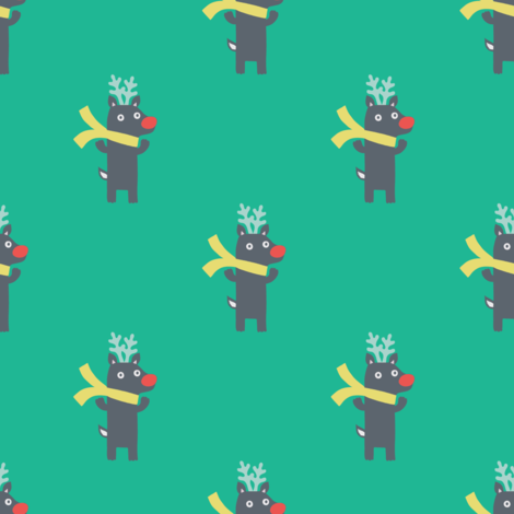 XMAS REINDEER fabric by minkypnoo on Spoonflower - custom fabric
