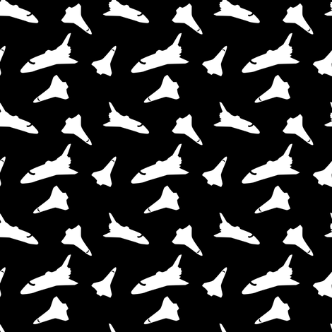 Shuttle_Dot_black_white-small repeat fabric by stellarevolutiondesigns on Spoonflower - custom fabric