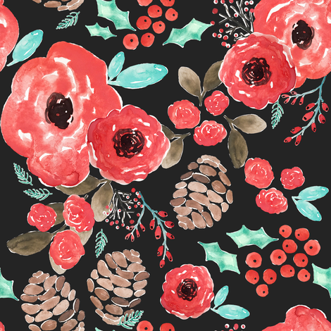 Indy Bloom Design Holiday Cheer fabric by indybloomdesign on Spoonflower - custom fabric