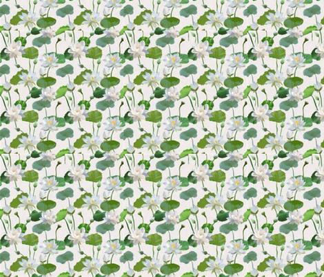 Waterlillies fabric by floramoon on Spoonflower - custom fabric