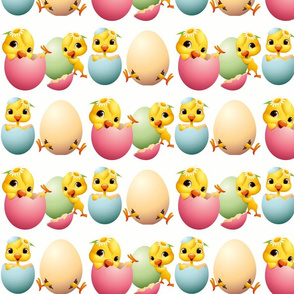Easter,chicks,eggs