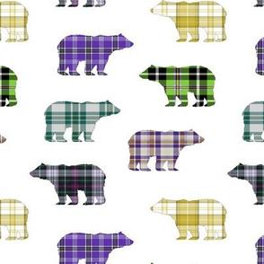 Plaid Bear III  // Sylvan Shoppe Collection