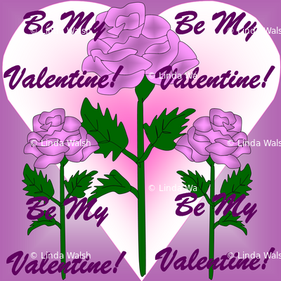 Valentines Hearts Lilac Roses