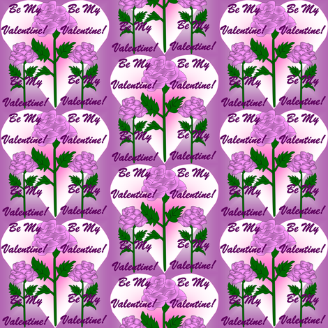 Valentines Hearts Lilac Roses fabric by lworiginals on Spoonflower - custom fabric