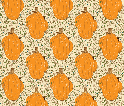 Pumpkin Patch fabric by accidental_rabbit on Spoonflower - custom fabric