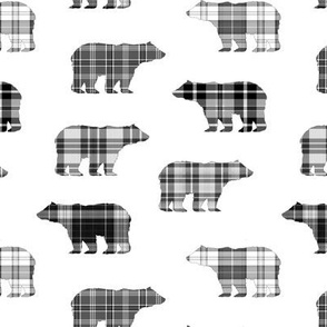 Black & White Plaid Bears // Sylvan Shoppe Collection