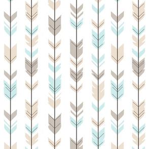 Arrow Feathers - Baby Blue/Cream - CottonWood-ch-ch-ch-ch-ch