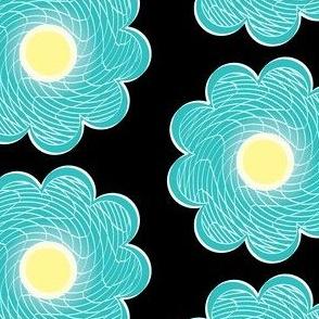 checkered flower 9