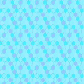 Honey Comb Pattern In Blue