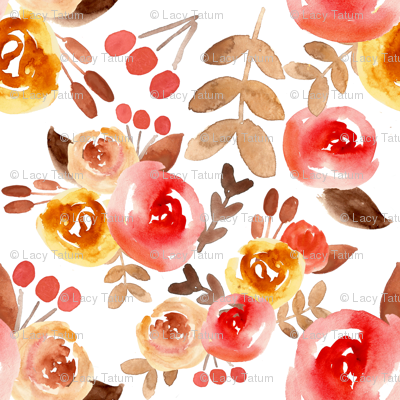 autumn watercolor floral