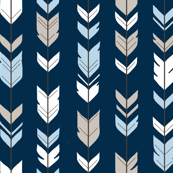 Arrow Feathers - Baby Blue/White/navy - CottonWood-ch-ch
