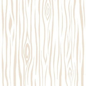 Woodgrain- small- cream/white - tree bark wood-ch