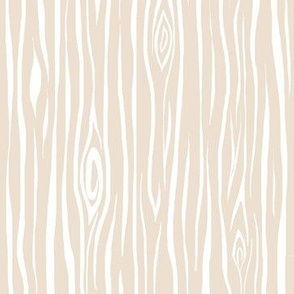 Woodgrain- small- cream/white - tan tree bark wood-ch-ch-ch-ch