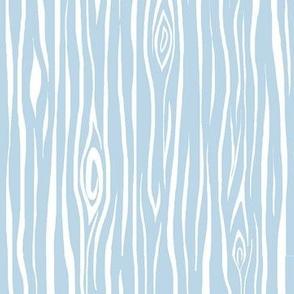 Woodgrain- small- baby blue/white - tree bark wood-