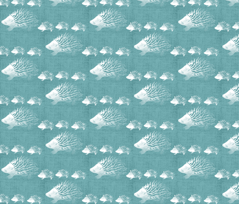Mint Hedgehogs fabric by mrshervi on Spoonflower - custom fabric