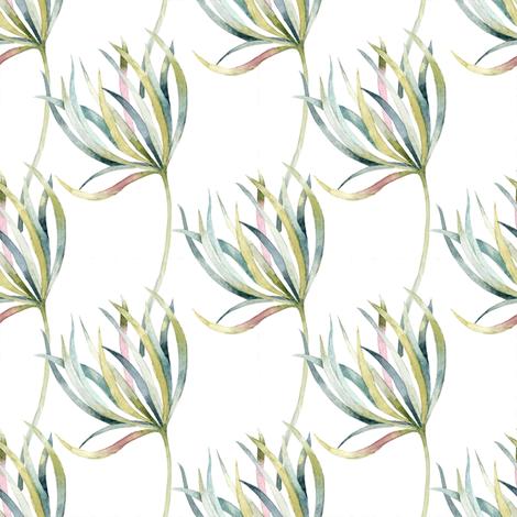 field_of_flowers_leaves_patern fabric by zeesidesigngarden on Spoonflower - custom fabric