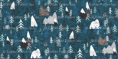 Forest Peaks (midnight blue)