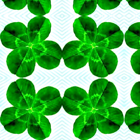Looking Over a Four-Leaf Clover fabric by robin_rice on Spoonflower - custom fabric