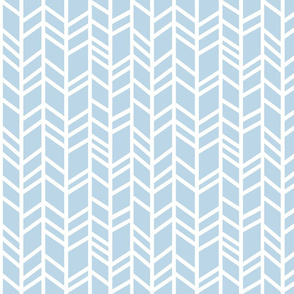 Crazy herringbone- Baby blue and white - Cottonwood - baby boy nursery