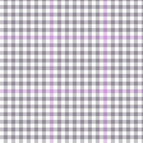 tartan check - grey and lavender