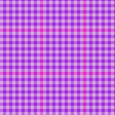 mad plaid purple tartan check fabric by weavingmajor on Spoonflower - custom fabric