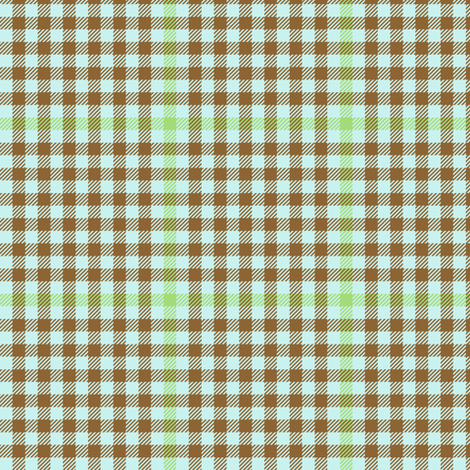 antique tartan check  - brown, green and pale blue fabric by weavingmajor on Spoonflower - custom fabric