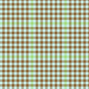 antique tartan check  - brown, green and pale blue