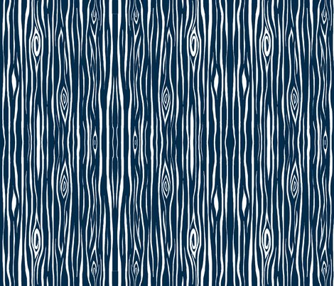Woodgrain- small- navy/ white wood tree bark fabric by sugarpinedesign on Spoonflower - custom fabric