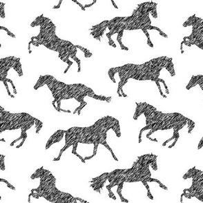 Pen Sketch Horses