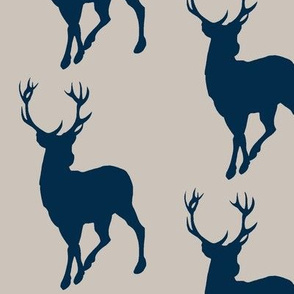Buck- beige/navy- Cottonwood Woodland