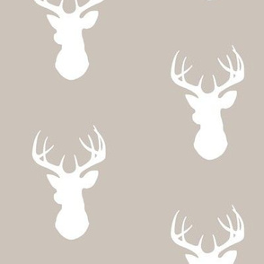 Deer- Beige/White - bucks - Cottonwood Woodland