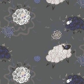 Ditzy Sheepies In Blue