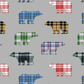 Plaid Bears // Grey // Sylvan Shoppe Collection