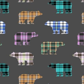 Plaid Bears // Charcoal // Sylvan Shoppe Collection
