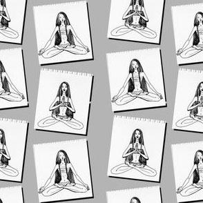 Yoga monochrome