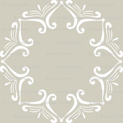 Sweet Friends Scroll - White Scroll on Tan