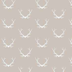Antlers - Beige - Woodland deer Buck baby boy nursery-ch