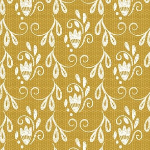 Rustic Mustard Lace