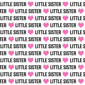 little sister fabric cute girls text heart font girls little sisters