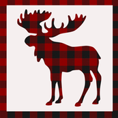 Plaid Moose Square // Off-White // Sylvan Shoppe Collection