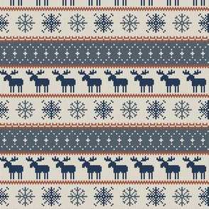 small scale - moose || christmas sweater